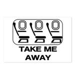 *NEW DESIGN* Take Me Away Postcards (Package of 8)