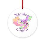 Xiantao China Map Ornament (Round)