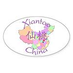 Xiantao China Map Oval Sticker (10 pk)
