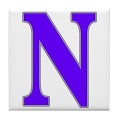 Letter N Tile Coaster