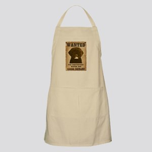 """Wanted"" Portuguese Water Dog BBQ Apron"