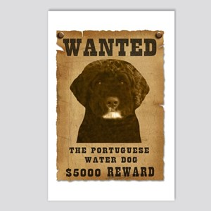 """""""Wanted"""" Portuguese Water Dog Postcards (Package o"""