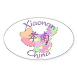 Xiaonan China Oval Sticker (10 pk)