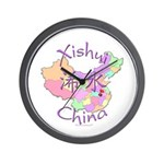 Xishui China Map Wall Clock