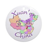 Xuan'en China Map Ornament (Round)
