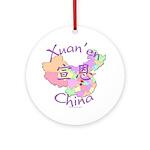 Xuan'en China Map Ornament (Round)