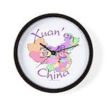 Xuan'en China Map Wall Clock