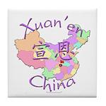 Xuan'en China Map Tile Coaster