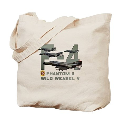 F-4 Wild Weasel Phantom Tote Bag
