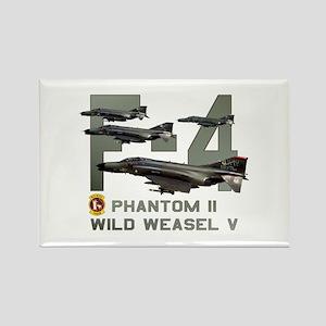 F-4 Wild Weasel Phantom Rectangle Magnet