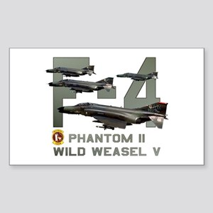 F-4 Wild Weasel Phantom Rectangle Sticker