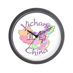 Yichang China Map Wall Clock