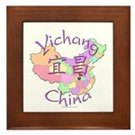 Yichang China Map Framed Tile