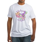 Yichang China Map Fitted T-Shirt