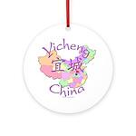 Yicheng China Map Ornament (Round)