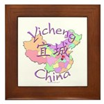 Yicheng China Map Framed Tile