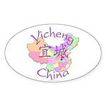 Yicheng China Map Oval Sticker (10 pk)