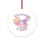 Yunmeng China Map Ornament (Round)