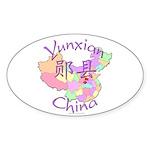 Yunxian China Oval Sticker (10 pk)