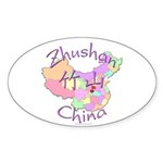 Zhushan China Oval Sticker (10 pk)