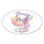 Zhuxi China Oval Sticker (10 pk)