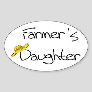 Farmer's Daughter Oval Sticker
