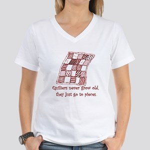 Quilters Women's V-Neck T-Shirt