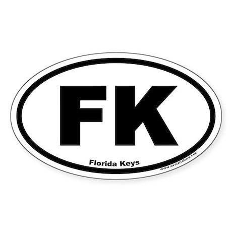 Florida Keys FK Euro Oval Sticker