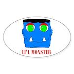 LI'L MONSTER Oval Sticker
