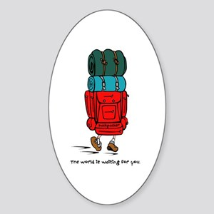 Backpacker Oval Sticker