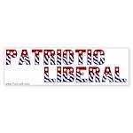 Bumper Sticker -- Patriotic Liberal