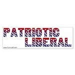 Bumper Sticker -- Patriotic Liberal