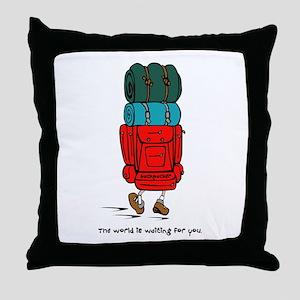 Backpacker Throw Pillow