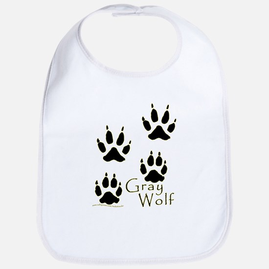 Gray Wolf Track Design Bib