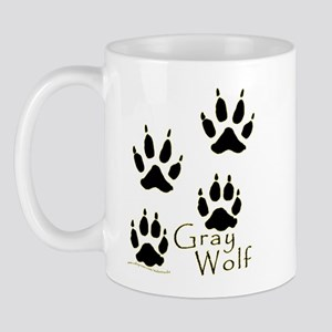 Gray Wolf Track Design Mug