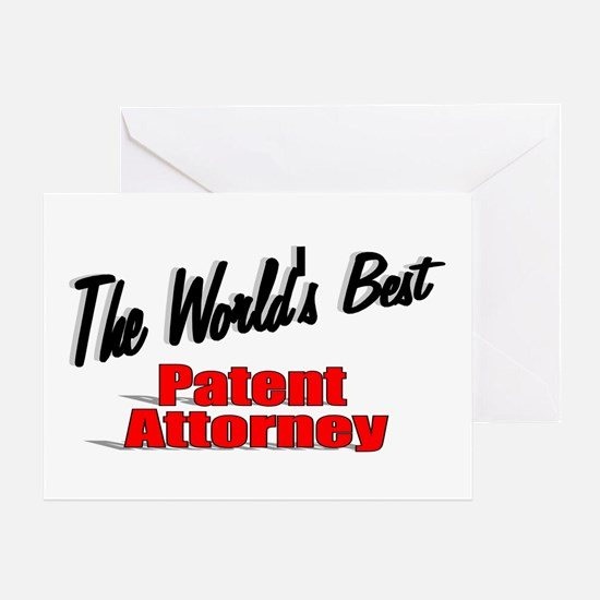 """""""The World's Best Patent Attorney"""" Greeting Card"""