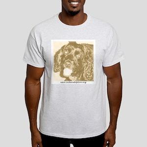 Cocker Spaniel Adoption Center Ash Grey T-Shirt