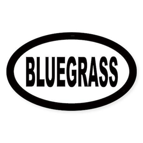 Bluegrass Oval Sticker