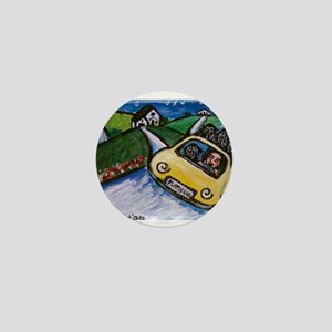 flat coated retriever summer Mini Button