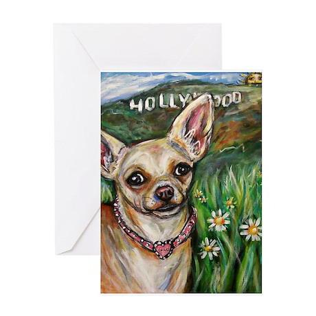 Hollywood Chihuahua Greeting Card