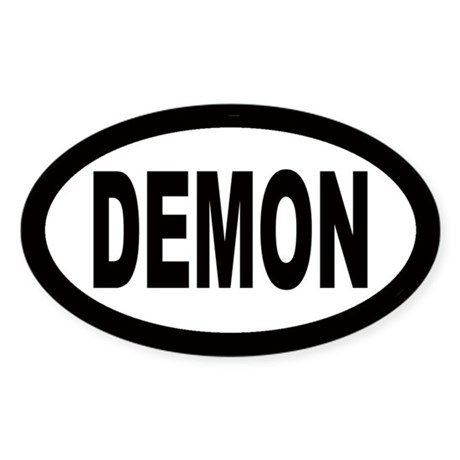 Demon Oval Sticker