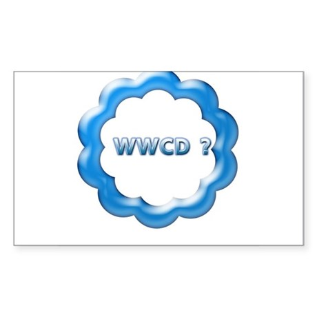 W W C D ? Rectangle Sticker