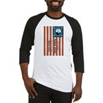 """Obama and Biden"" Flag Baseball Jersey"