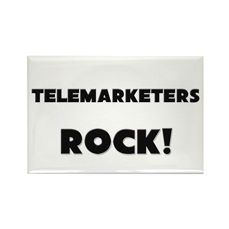 Telemarketers ROCK Rectangle Magnet