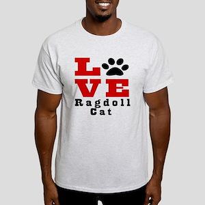 Love ragdoll Cat Light T-Shirt