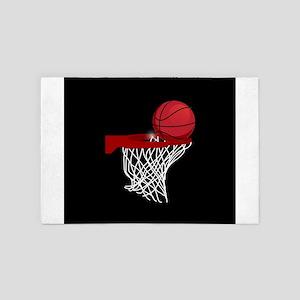 Basketball hoop and ball 4' x 6' Rug