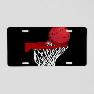 Basketball hoop and ball Aluminum License Plate