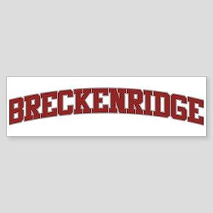 BRECKENRIDGE Design Bumper Sticker