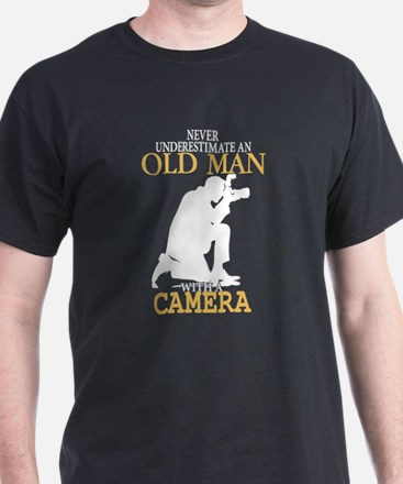 Old Man With A Camera T Shirt T-Shirt