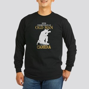 Old Man With A Camera T Shirt Long Sleeve T-Shirt
